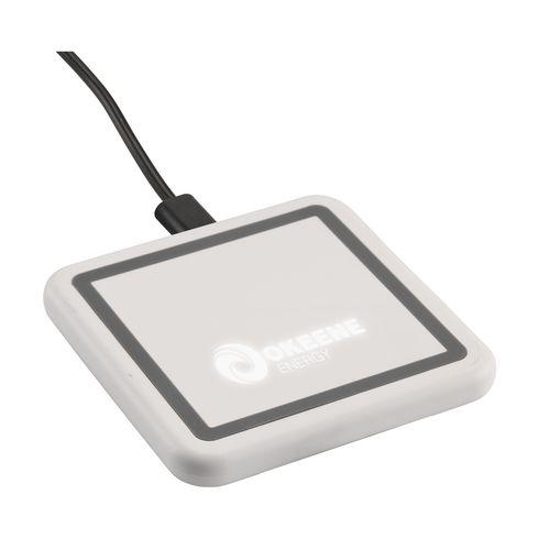 Chargeur sans fil avec logo qui s'allume