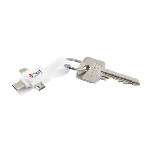 Connection 3-in-1 keychain with charging cable