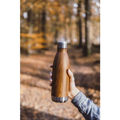 Topflask Wood 500 ml drinkfles