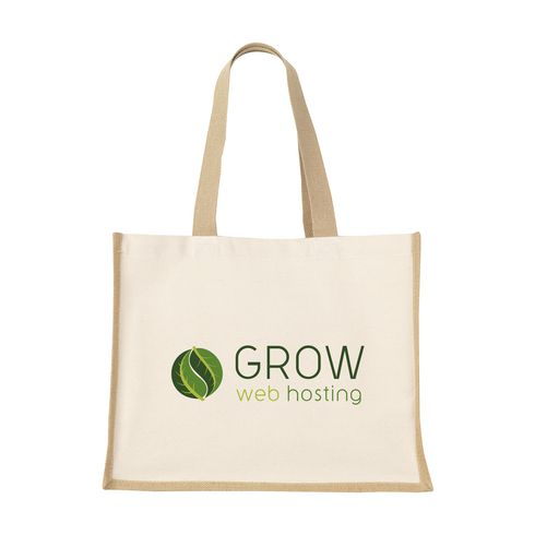 Jute Canvas Shopper Tasche