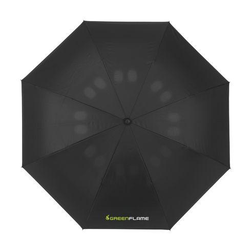 Omvendt og hurtigtørkende paraply med logo