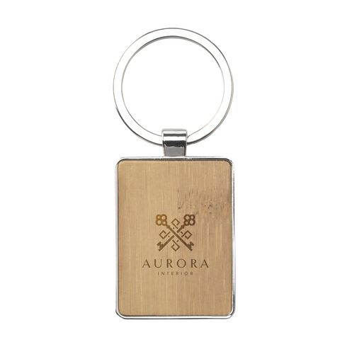 Bamboo Key Rectangle keyring