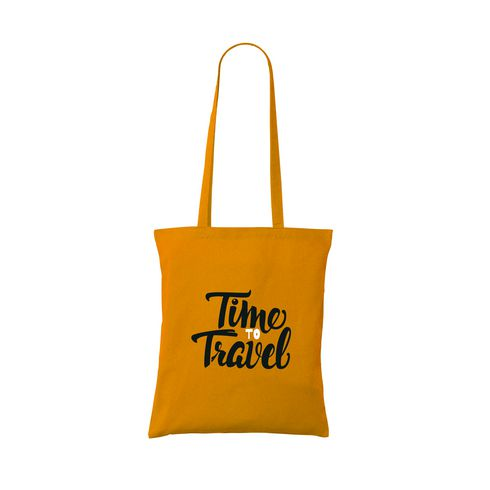Cotton tote bag with long handles