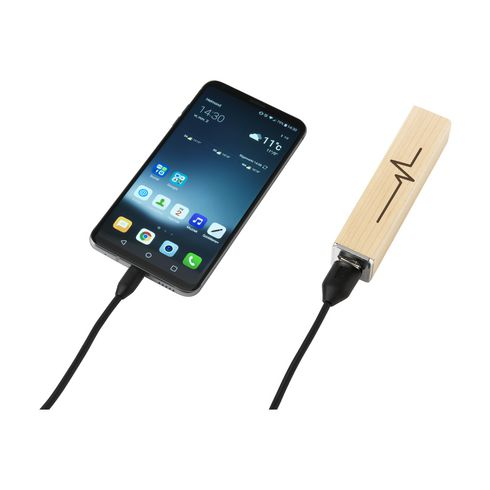 PowerCharge2000 Wood Powerbank