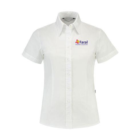 Billede af L&S Poplin Shortsleeve Shirt dame skjorte
