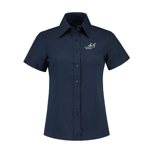 L&S Poplin Shortsleeve Shirt ladies