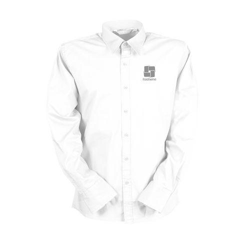 Billede af L&S Poplin Longsleeve Shirt herre skjorte