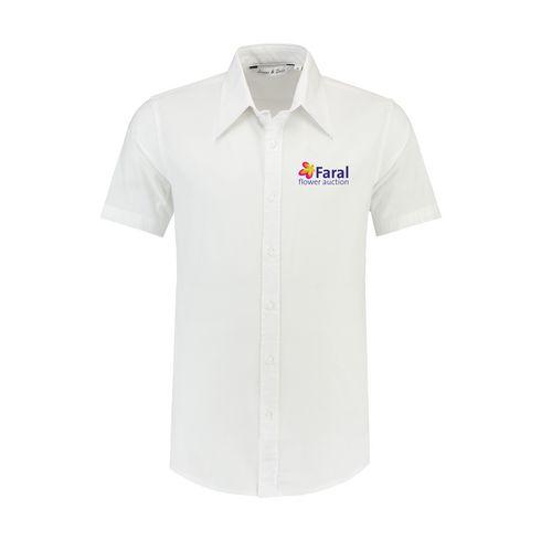 Billede af L&S Poplin Shortsleeve Shirt herre skjorte