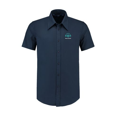 L&S Poplin Shortsleeve Shirt mens