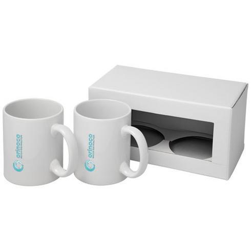 Ceramic mugg med två delar i presentförpackning