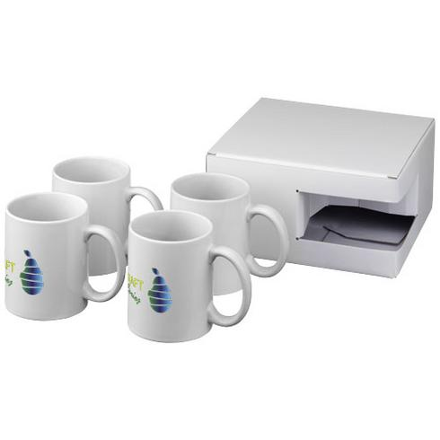 Ceramic Geschenkset mit 4 Bechern mit Sublimationsdruck