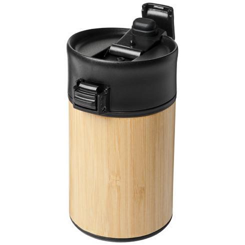 Arca 200 ml leak-proof copper vacuum insulated bamboo tumbler