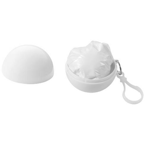 Xina rain poncho in storage ball with keychain