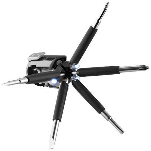 Stantech multiværktøj med 6 funktioner og LED-lys