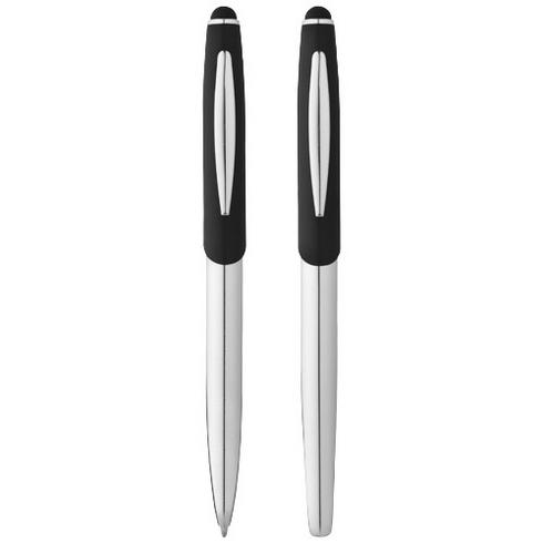 Geneva stylus ballpoint pen and rollerball pen set