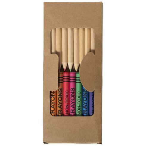 Lucky 19-teiliges Waxmal- und Buntstifte Set