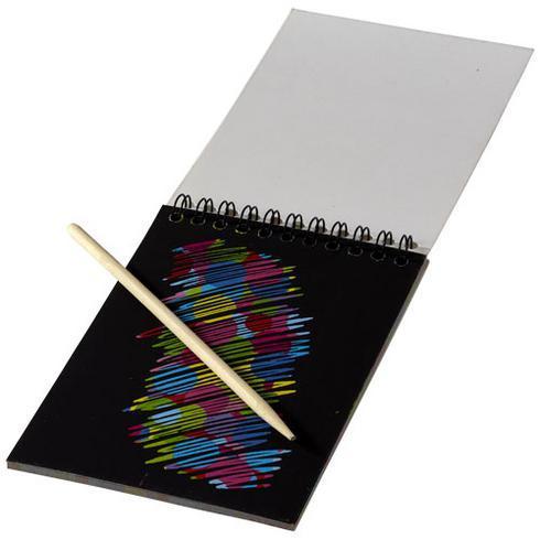 Carnet coloré à gratter avec stylo à gratter Waynon