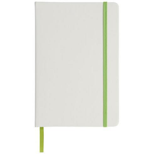 Spectrum hvid A5 notesbog med farvet elastik