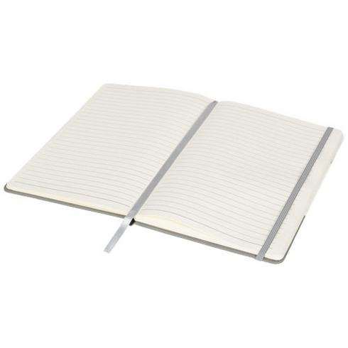 Two-tone A5 marble look notebook