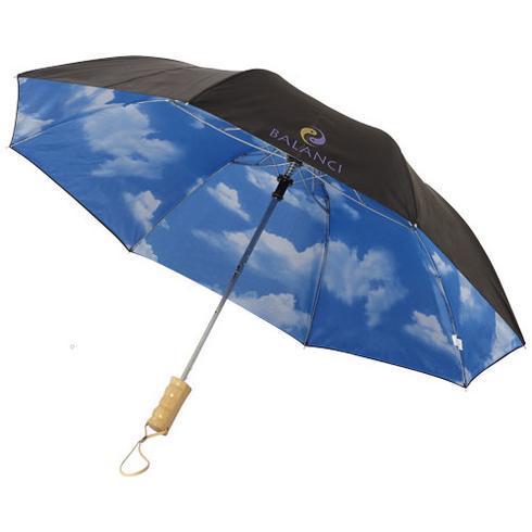 """Blue-skies 21"""" foldbar paraply med automatisk åbning"""