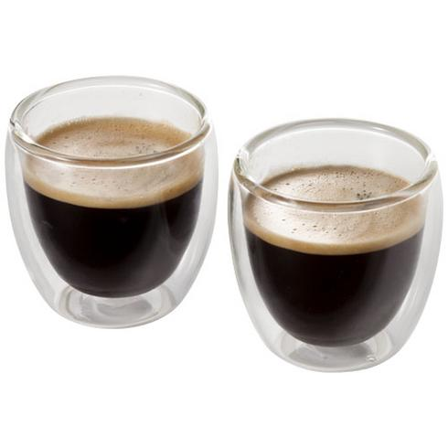 Boda 2-piece glass espresso cup set