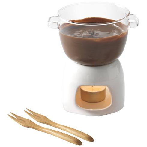 Belgium chokladfondue-set i glas