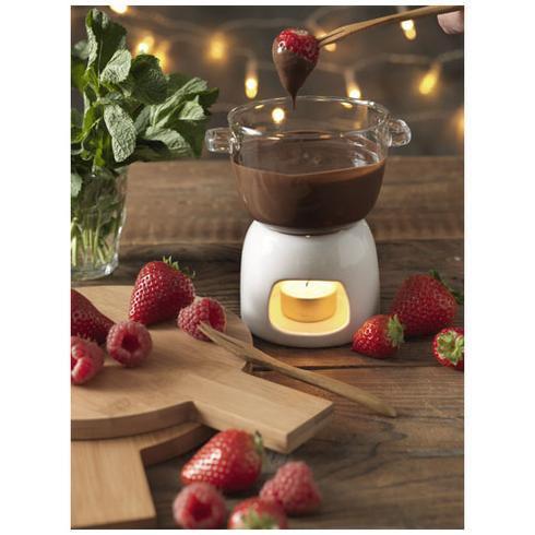 Belgium sjokoladefondue-sett i glass