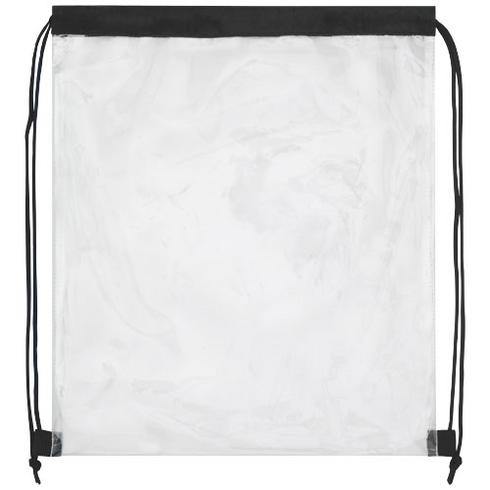 Lancaster transparent drawstring backpack