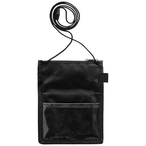 Identify badge holder pouch with pen loop