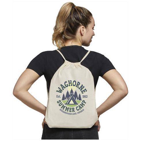 Oregon 100 g/m² cotton drawstring backpack