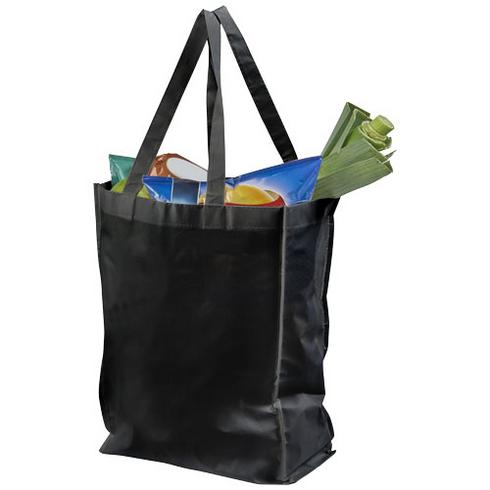 Conessa laminated shopping tote bag