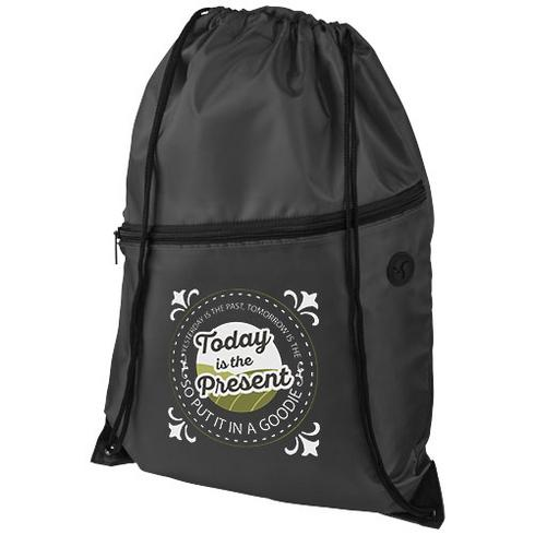 Oriole zippered drawstring backpack
