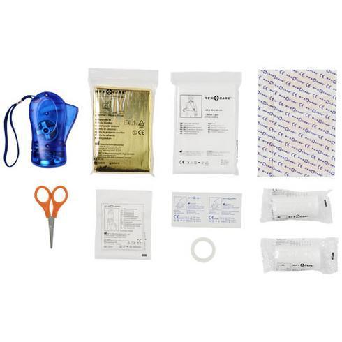 Handies-ensiapusetti, 46 tuotetta sekä turvaliivi