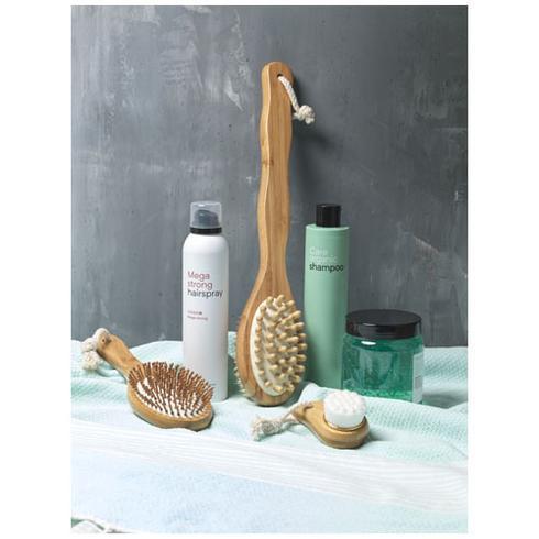 Brosse de douche et masseur double-fonction en bambou Orion