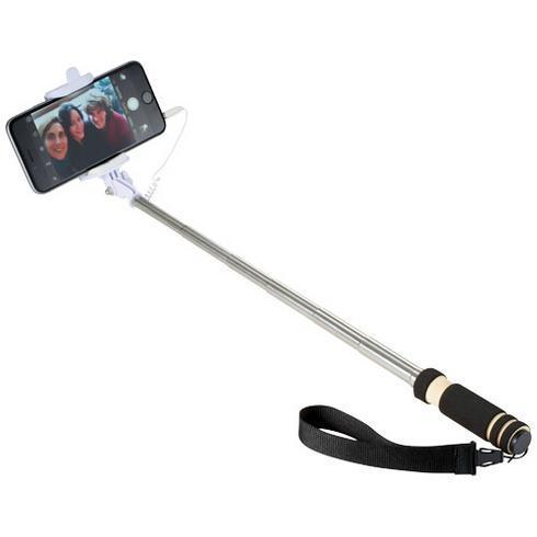 Snaps mini selfie stick with wrist strap