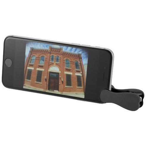 Optisk vidvinkel og makrolinse med klips for smarttelefon