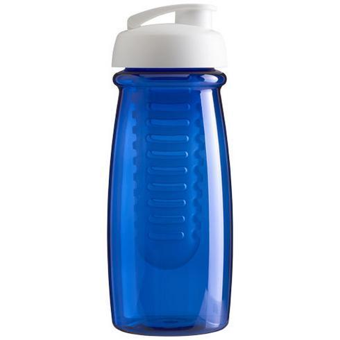 H2O Pulse® 600 ml sportsflaske og infuser med flipp-lokk
