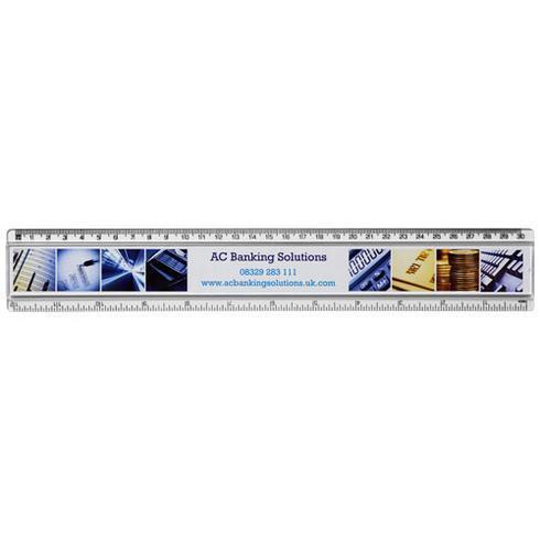 Règle en plastique Ellison 30 cm avec insertion de papier décoratif