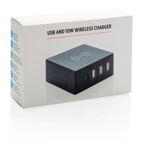 USB and 10W wireless charger