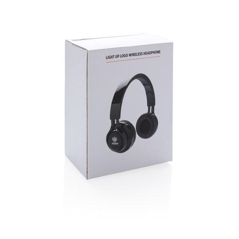 Light up logo wireless headphones