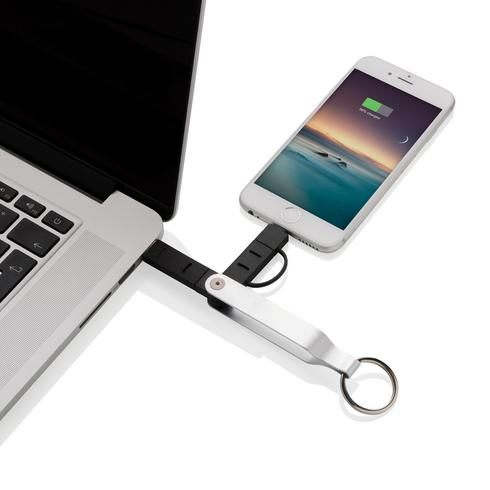 2-in-1 keychain cable MFi licensed