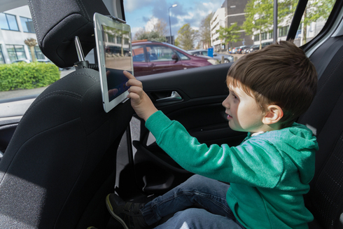 Backseat tablet holder